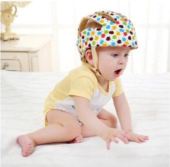 Adjustable Infant Baby Safety Helmet Kids Head Protection Caps Hat for Walking Crawling (Multi-color) - intl - 2