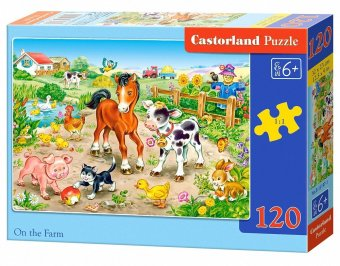 Harga Castorland Poland imported children's puzzle 120 piece in the farm 13197
