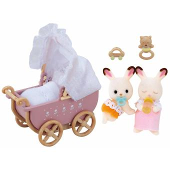 Harga Sylvanian Families Chocolate Rabbit Twins Set (Pram)