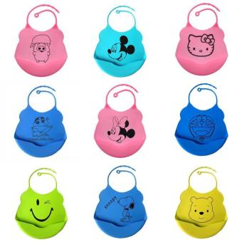 Harga Cute Silicon Bibs (Green) Smiley