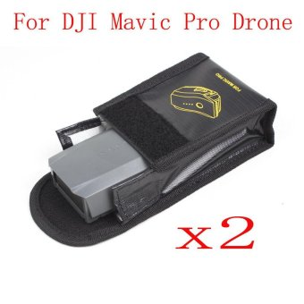 Harga 2PC Battery Fireproof Explosionproof Storage Bag Case Safety For DJI Mavic Pro Black - intl