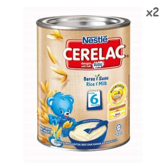 Harga Nestle Cerelac Rice and Milk 350g X 2tins