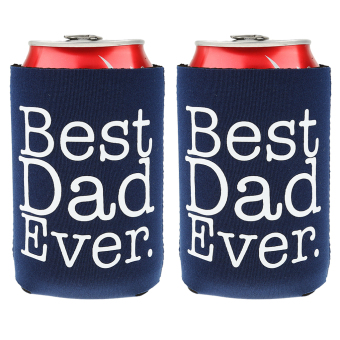 MagiDeal 2 pcs Funny BEST DAD EVER Beer Can Bottle Cooler Fathers' Day Gift