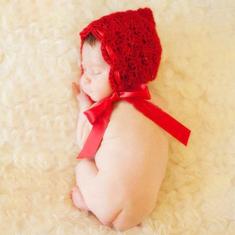 ZigZagZong Fashion Newborn Infant Baby Knit Crochet Hat Photography Prop Costume Cap Beanie Red - intl