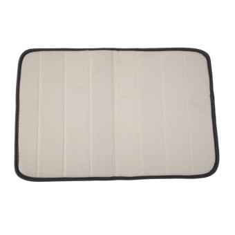 Memory Foam Bath Mats Bathroom Horizontal Stripes Rug Non-slip (Dark Grey) - 4