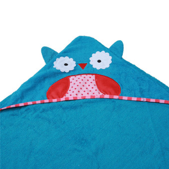 Harga Yingwei Newborn Baby Boys Girls Cartoon Owl Hooded Bathrobe Blue