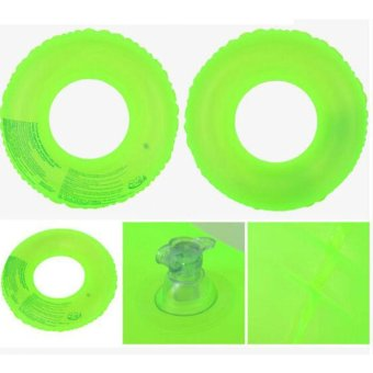 Harga Fluorescent Green Inflatable Circle Floating Swim Ring Swimming Laps for Kids,80# - intl
