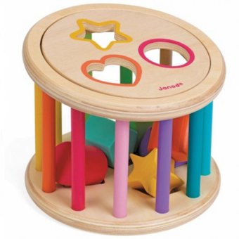 Harga Janod - I Wood Shape Sorter Drum (J05336)