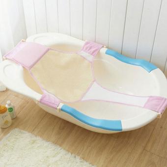 cross baby bath mesh bathtub seat   support sling infant bath tub hammock pink      for sale cross baby bath mesh bathtub seat   support sling      rh   kaygetsu