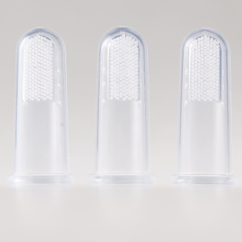 3 Pcs Baby Infant Soft Silicone Finger Toothbrush Gum Brush Clean Teeth - 4