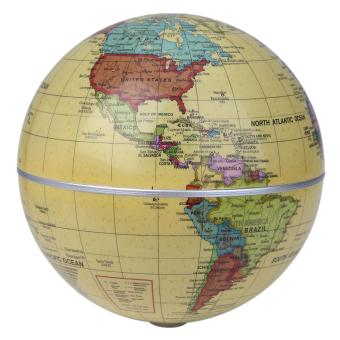 Harga 5.5 inch Solar Powered Auto Rotating World Globes - intl