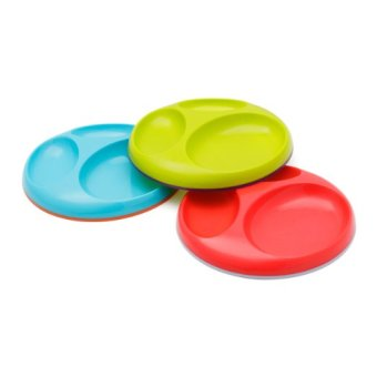 Harga Boon Saucer Edgeless Stay-Put Divided Plate - Asst 3 Pk