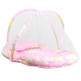 Harga Baby Infant Portable Folding Crib Bed Mosquito Net Travel Tent Pink - intl