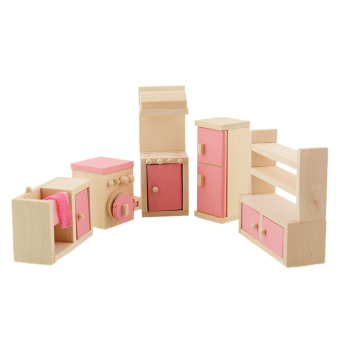 Harga Wooden Doll Bathroom Furniture-Kitchen