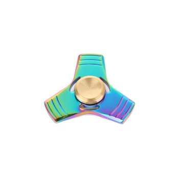 Harga New Tri Fidget Hand Spinner Mixed Ceramic Bearing Desk Toy EDC Finger Gyro 2017 Multicolor - intl