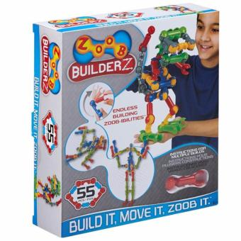 Harga ZOOB BuilderZ 55 Piece Kit Interlocking Construction Bricks Set
