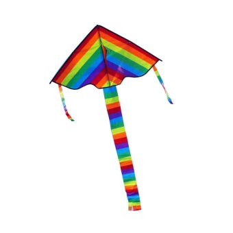 High Quality Triangle Rainbow Kite Outdoor Fun Sports - intl