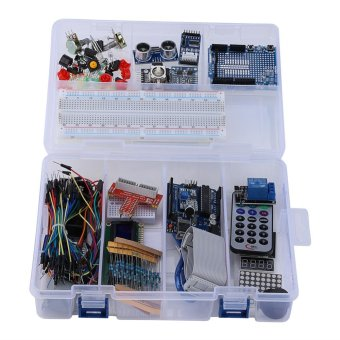 Harga UNO R3 Starter Kit for 1602LCD Keypad Servo Motor LED Relay RTC DIY - intl