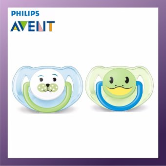 Harga Philips Avent Animal Pacifiers 6-18M Blue