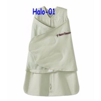 HALO 2-in-1 SleepSack 100% Cotton Swaddle (0-3months)