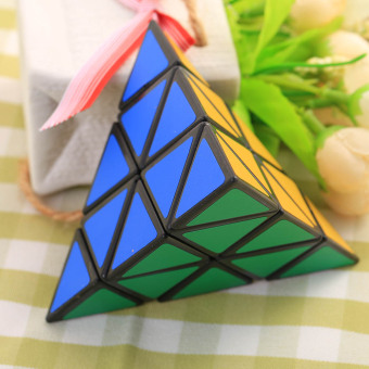 Harga 3X3X3 Pyramid triangle Shaped Third order Magic Cube Puzzle Twist funny Toy