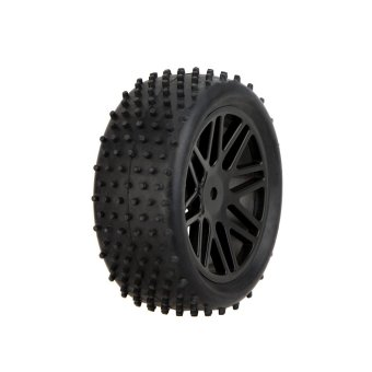 Harga GoolRC 2Pcs High Performance 1/10 Off-Road Car Rear Wheel Rim and Tire 66041 for Traxxas HSP Tamiya RC Car