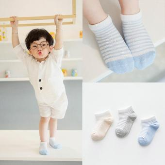 Jiayiqi 3 Pairs Cotton Stripe Ankle Socks Lovely Baby Gilrs Socks - intl