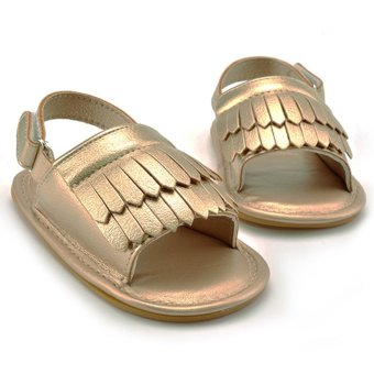 Harga Baby Tassel Layer Soft Sole Sandal Glod (EXPORT)