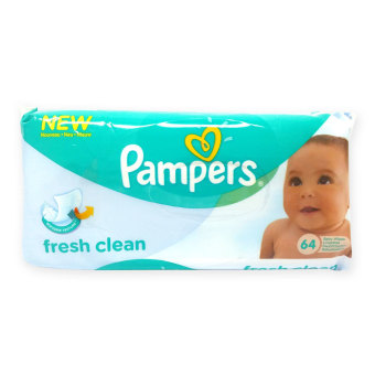 Harga Pampers Fresh Clean Baby Wipes UK 64's x 6 packs - 2840