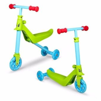 Harga Zycom Zykster 2 in 1 Balance Trike Scooter (Lime Green Blue)