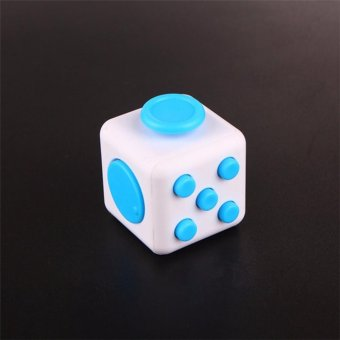 Harga Fidget Cube Relieves Squeeze Fun Stress Reliever Anxiety and Stress Cube Blue - intl