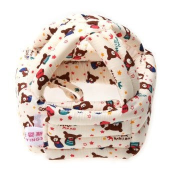 Harga Baby Adjustable Warm Cap No Bumps Safety Helmet Headguard Hats (S) - intl