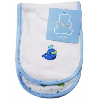 Harga Owen 2pc Burp Cloth (Blue)(White)