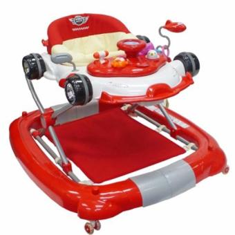 Baby Ace 4 in 1 function baby walker (Red)