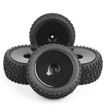 Harga 4Pcs Front&Rear Off-Road Rubber Tires&Wheel Rim For RC 1:10 Buggy Car A01 - intl