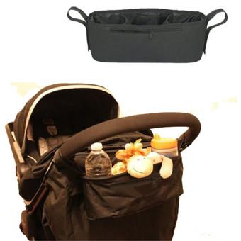 Black Baby Stroller Cup Bag Organizer Baby Carriage Pram Buggy Cart Bottle Bags Stroller Accessories Baby Car Storage Bag - intl - 3