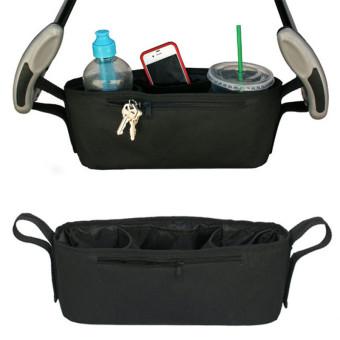 Black Baby Stroller Cup Bag Organizer Baby Carriage Pram Buggy Cart Bottle Bags Stroller Accessories Baby Car Storage Bag - intl - 5