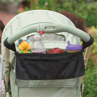 Black Baby Stroller Cup Bag Organizer Baby Carriage Pram Buggy Cart Bottle Bags Stroller Accessories Baby Car Storage Bag - intl - 2