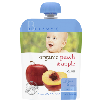 Harga Bellamy's Organic Organic Peach & Apple