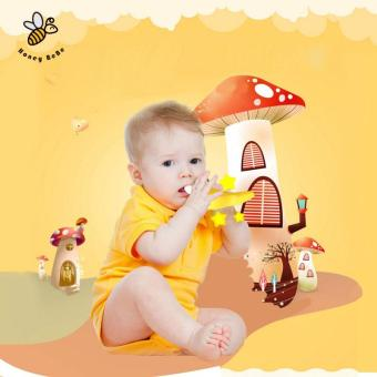 Banana Teether Environmentally Safe Baby Silicone Toothbrush Baby Tooth Brush Training Children's Rattle - intl - 5