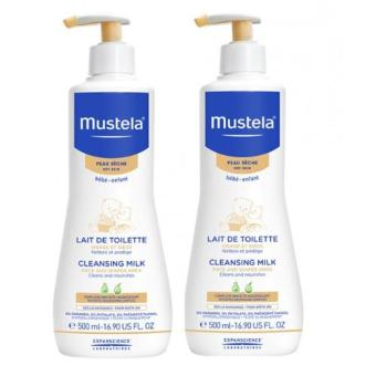 Harga [Twin Pack] Mustela Cleansing Milk 500ml