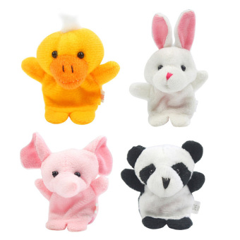 Harga 10 Cartoon Animal Finger Puppet Plush Toys