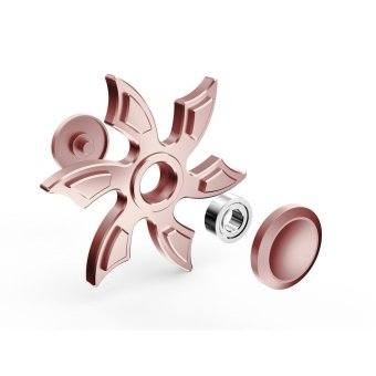 Harga Fidget Spinner Triangle Single Finger Decompression Gyro Rose Gold - intl