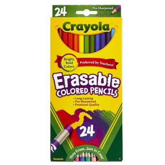 Harga Crayola 24 Ct Erasable Colored Pencil