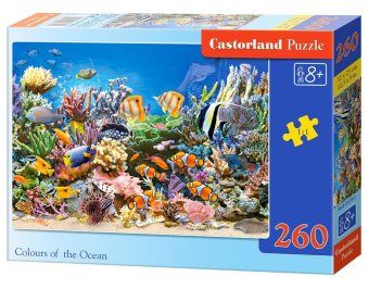 Harga Castorland Poland imported children's puzzle 260 piece ocean the color 27279