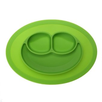 Harga Fashion Silicone Food Plate for Baby(Green) - intl