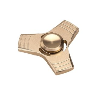 Harga EDC Fidget Spinner High Speed Stainless Steel Bearing ADHD Focus Anxiety Toys Gold - intl
