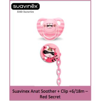 Suavinex Anat Soother + Clip 06/18m - Red Secret