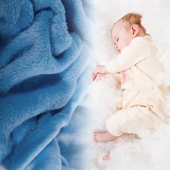 Cute Cartoon Flannel Baby Kid's Hooded Bath Towel Toddler (Blue Dog) - 2