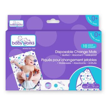 Harga Baby Works – Disposable Changing Mats 10 pieces